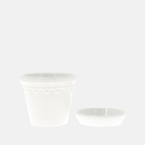 Set pot et soucoupe Copenhague blanc