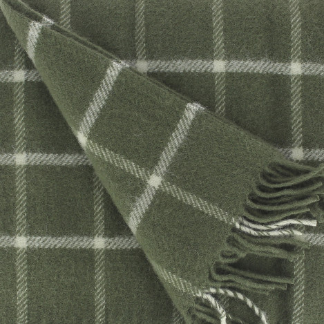 Plaid à carreaux safran