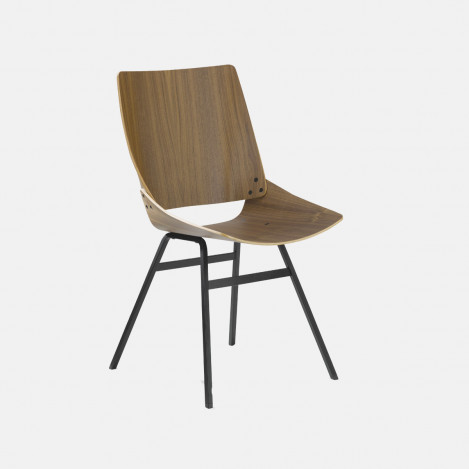 Chaise Shell noyer