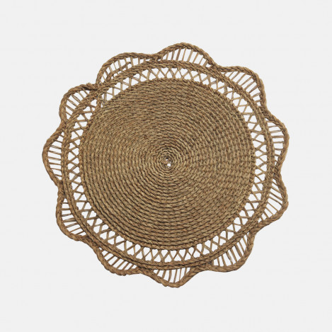 Tapis rond collerette