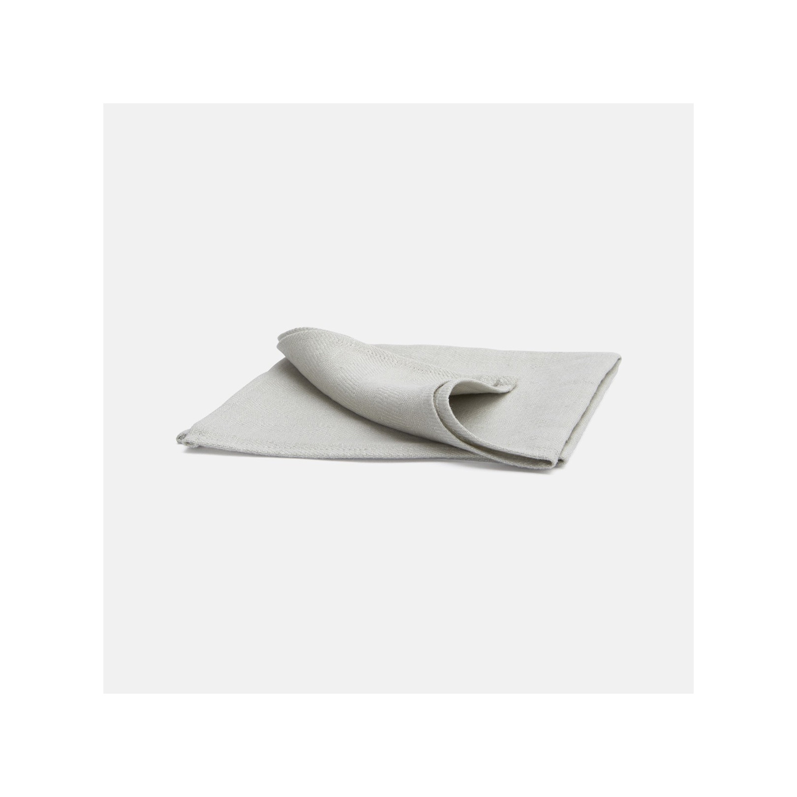 Serviette de table en lin chevron