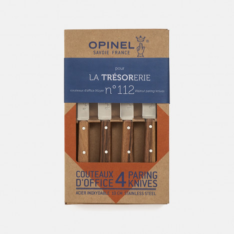 Set 4 couteaux d'office noyer Opinel n°112